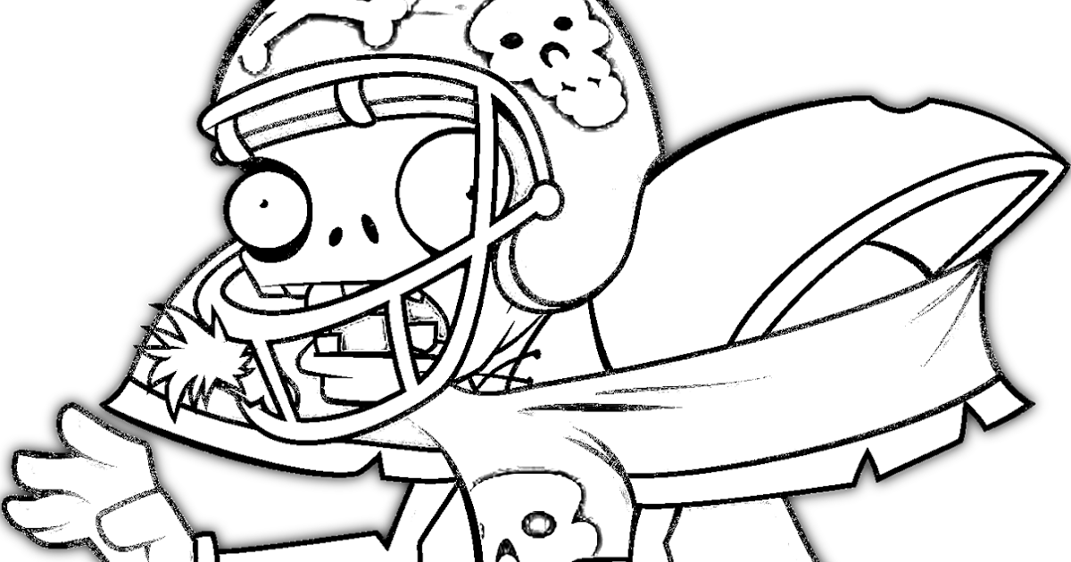 Dibujos De Zombies Para Imprimir Y Colorear: COLOREAR ZOMBIE DEPORTISTA PLANTAS VS ZOMBIES