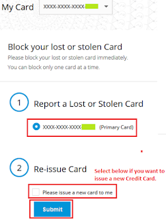 Report Lost Stolen SBI Credit Card