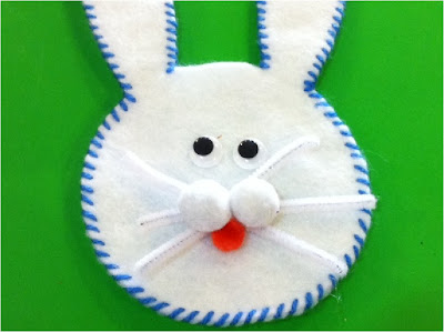 Easter Bunny Candy Pocket with face