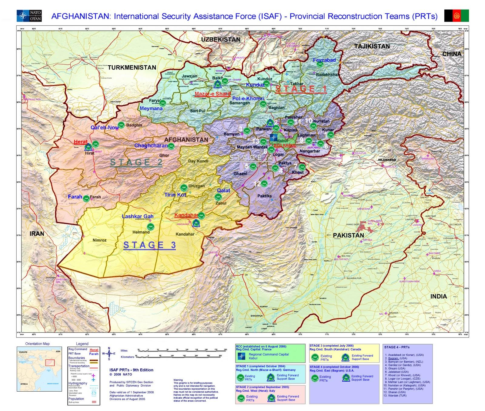 Afeganistão | Mapas Geográficos do Afeganistão
