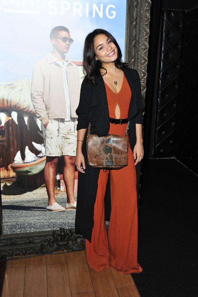 Vanessa Hudgens attends Selena Gomez's concert in LA