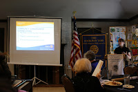 Student presenting at Rotary
