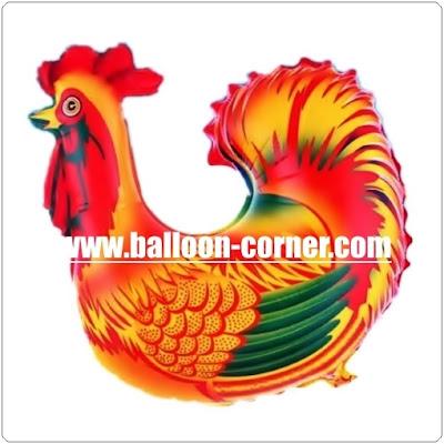 Balon Foil Karakter Ayam Jago