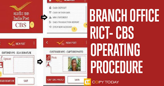 Branch Office RICT CBS Operating Procedure Published
