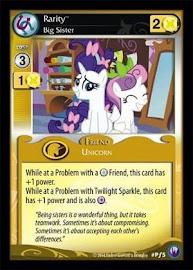 My Little Pony Rarity, Big Sister Canterlot Nights CCG Card