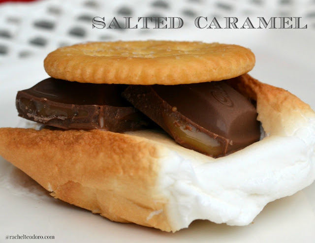 salted caramel smore with caramello and ritz crackers
