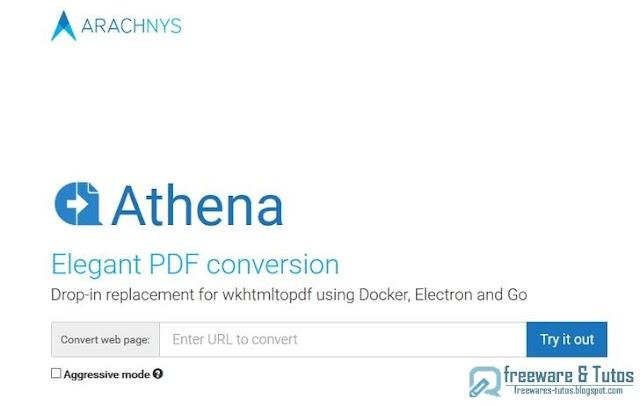 Athena PDF : pour convertir les pages web en PDF pour une meilleure lisibilité