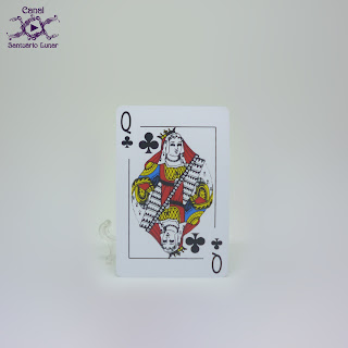 The Thoth Tarot (Sterling Ethos) - Size comparison using a common playing card