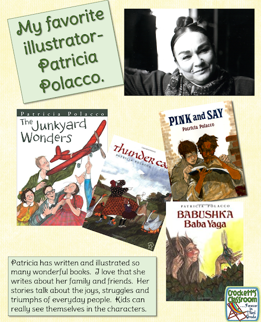 Patricia Polacco, wonderful illustrator and author,  her books touch our hearts!