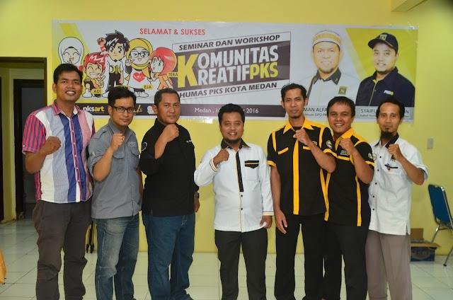 PKS Kota Medan Gelar Pelatihan Komunitas Kreatif Bidang Humas