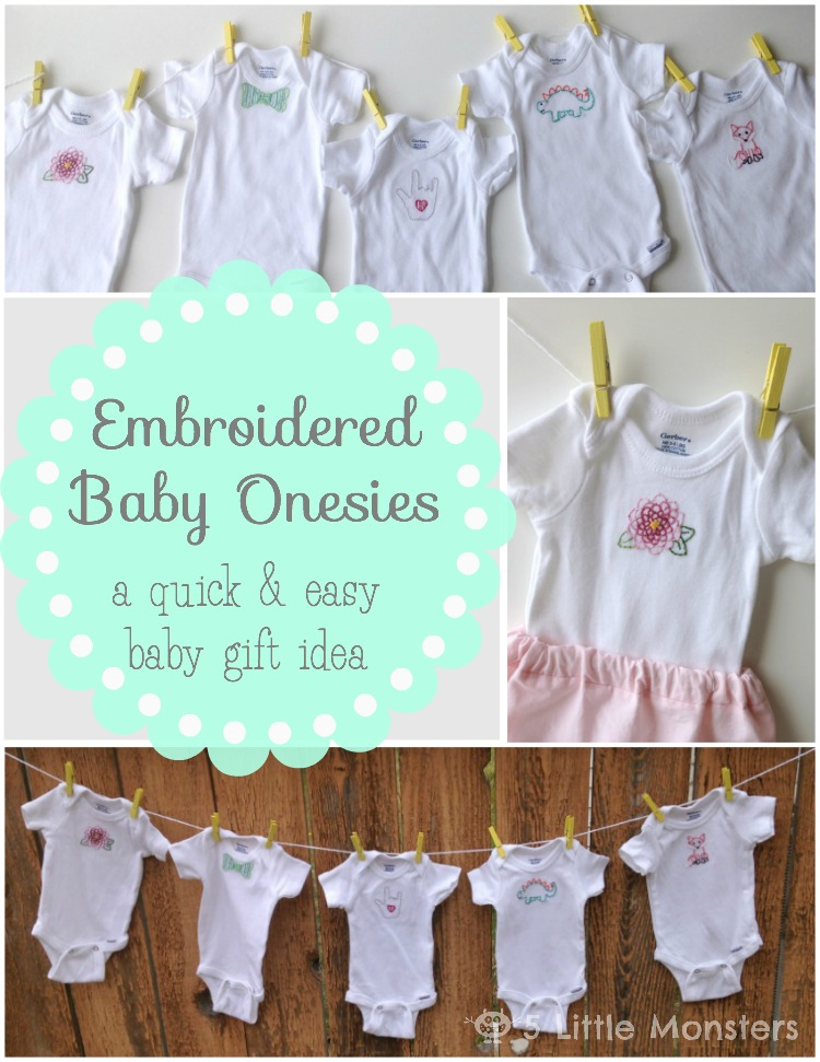 embroidered baby onesies