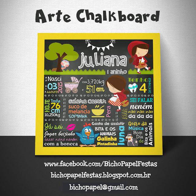 Chalkboard Chapéuzinho Vermelho