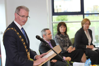 Opening of Donabate Library with Mayor Cllr. Kieran Dennison