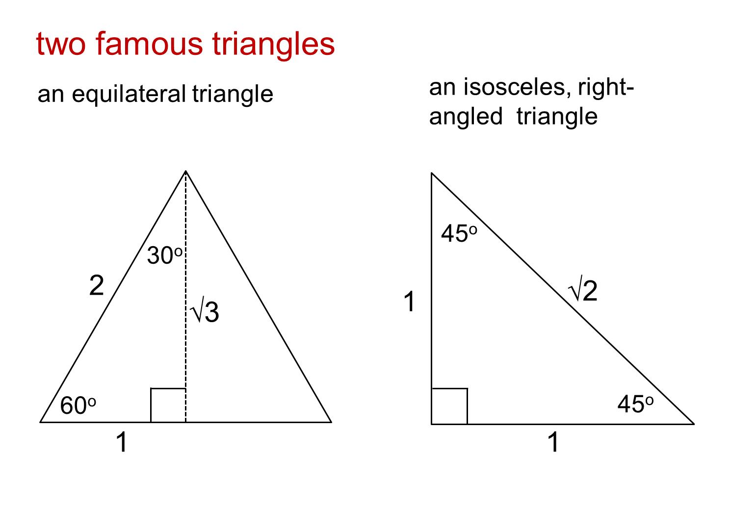 how to find the trigonometric ratio of a triangle