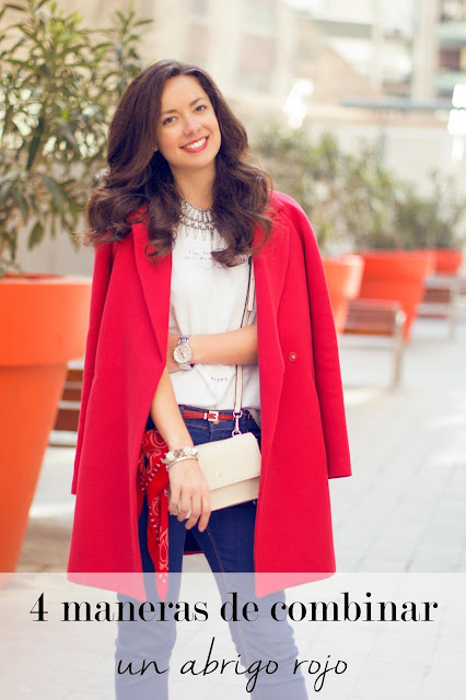 4 maneras de combinar un abrigo rojo