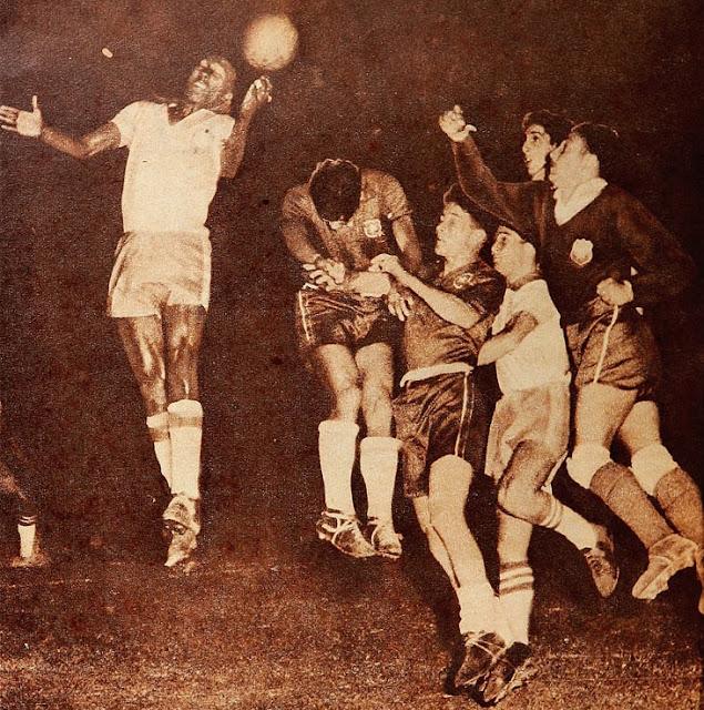 Chile y Brasil en Campeonato Sudamericano de 1956