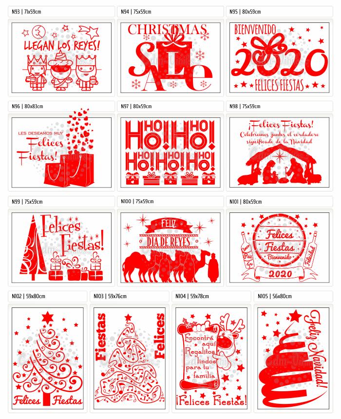 vinilos navideños, vinilos para vidrieras navidad,Vinilos Navidad 2019, Feliz Año Nuevo 2020, Carteles, Vidrieras, vinilos decorativo, vinilos trineos, vinilos arboles navidad
