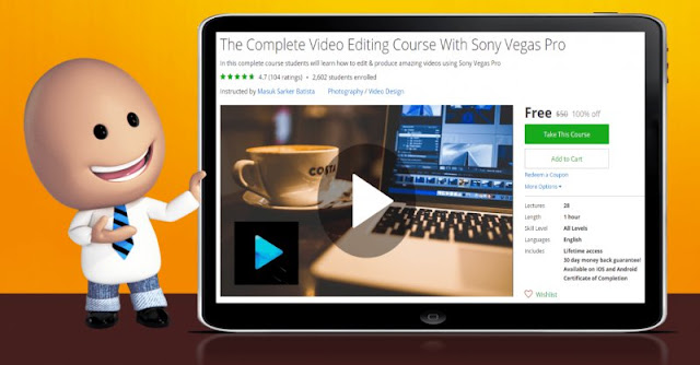 [100% Off] The Complete Video Editing Course With Sony Vegas Pro| Worth 50$