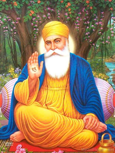 Guru Nanak Dev Ji In Beautiful Dress
