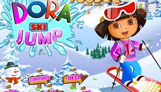 Play Dora Ski Jump game