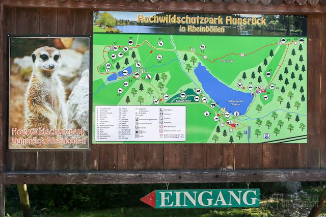Karte des Hunsrück Wildpark Rheinböllen