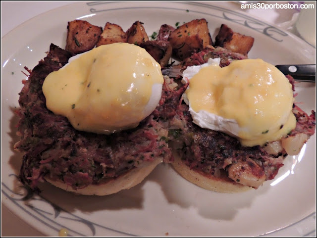 Corned Beef Hash Eggs Benedict $15