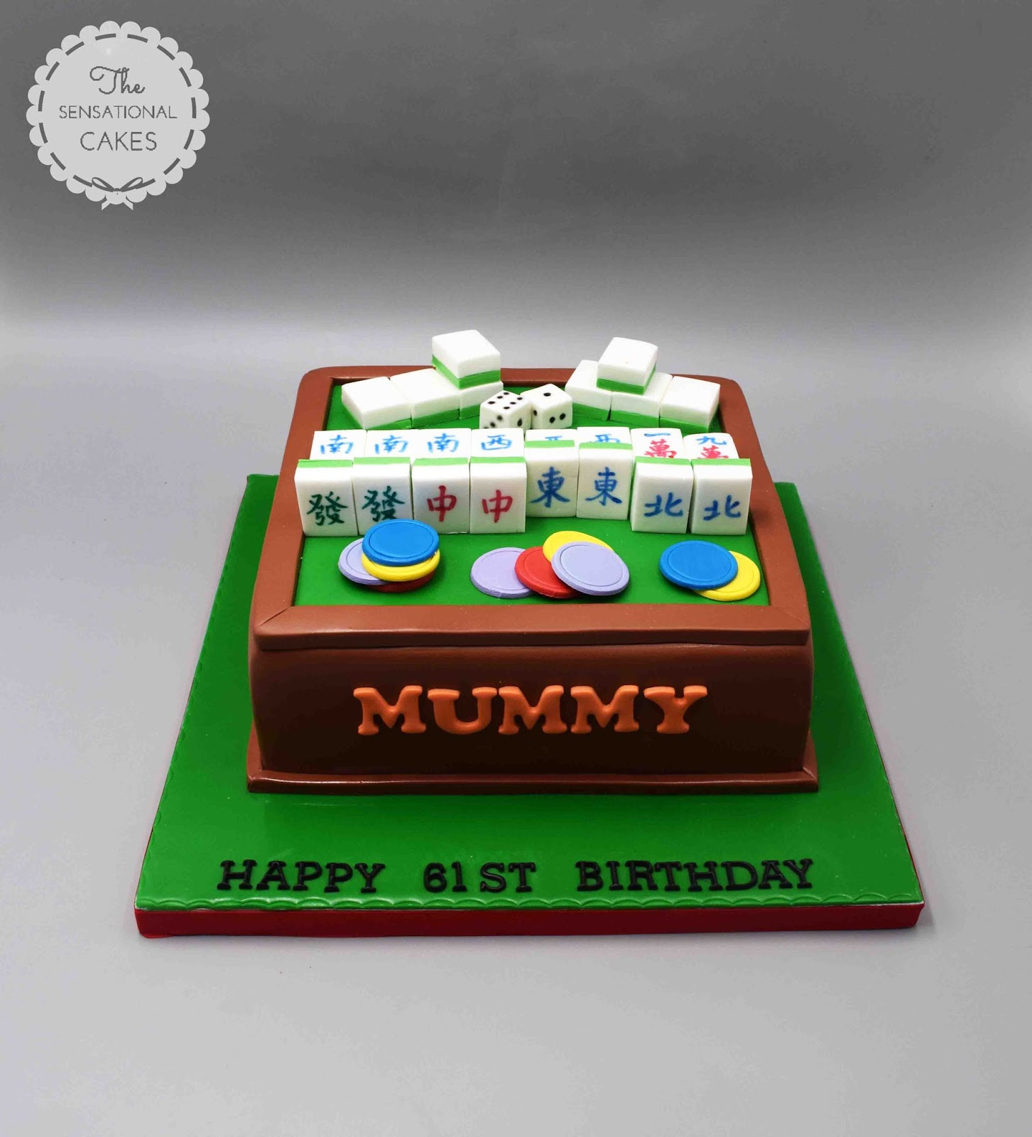 The Sensational Cakes Mahjong Play Inspired Theme 3d Cake Singapore