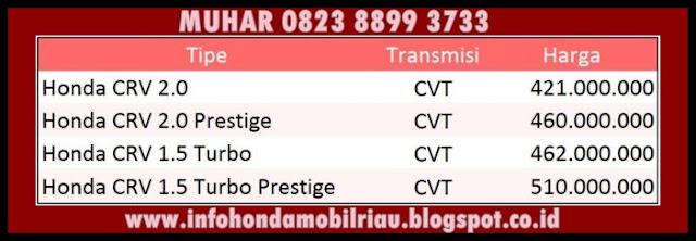 info harga paket kredit honda cr-v terbaru april 2017 Pekanbaru riau
