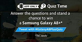 Amazon Galaxy A8+ Quiz : Answer & Win Samsung Galaxy A8+