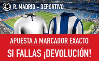 sportium promocion marcador exacto Real Madrid vs Deportivo 10 diciembre