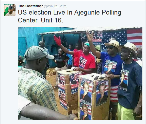 So Ajegunle people are participating in US elections?
