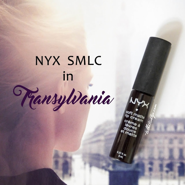 NYX soft matte lip cream Transylvania has an unique color of deep dark purple with a hint of red which is suitable for dark, gothic look