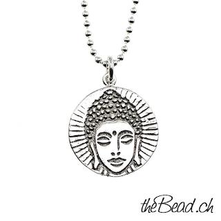 Buddha Silberhalskette