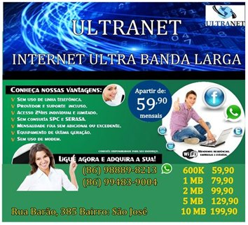 ULTRANET A SUA INTERNET  BANDA LARGA