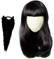 wigs for men beard women hairs  like natural black color