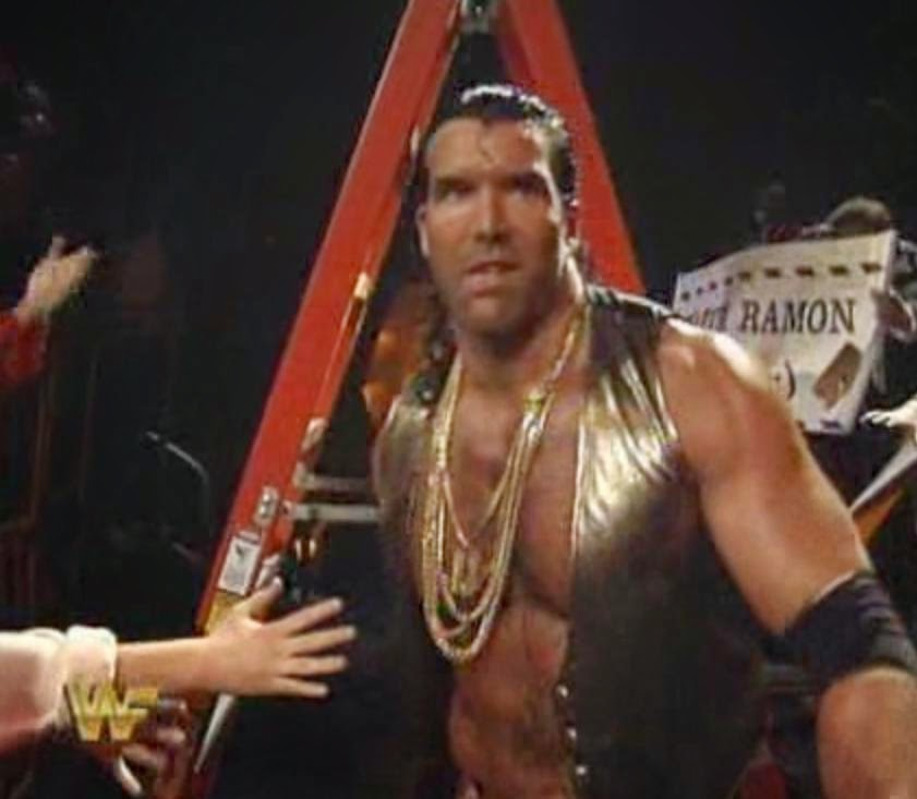WWF / WWE Wrestlemania 10 - Razor Ramon makes his way to the ring for an epic ladder match against Shawn Michaels