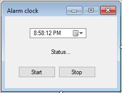 c# alarm clock