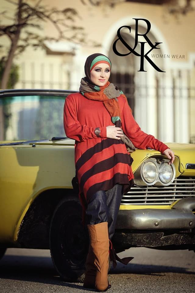 34f03efc5e29b الكوليكشن الجديد من ملابس المحجبات من رهف وكنزي شتاء 2014 المصممة نعيمة كامل