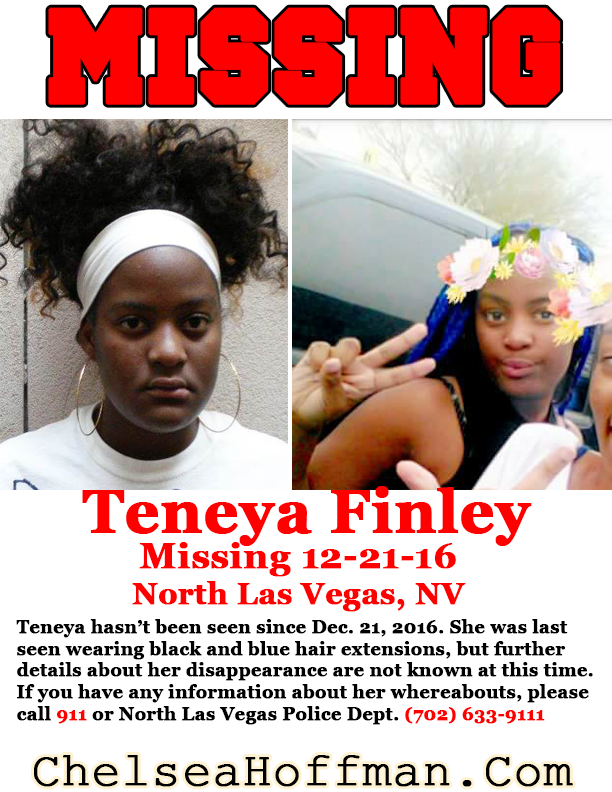 North Las Vegas, NV: Where is Teneya Finley?