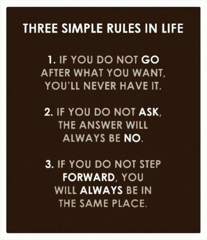Inspirational Quote: Three Simple Rules in Life