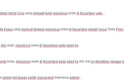 Contoh Soal Tumbuh dan berkembangnya agama dan budaya Islam di Indonesia