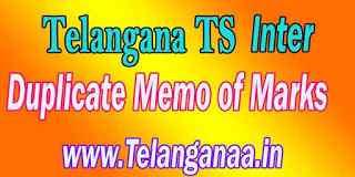 TS Inter Duplicate Memo of Marks Pass / Fail Memos Download