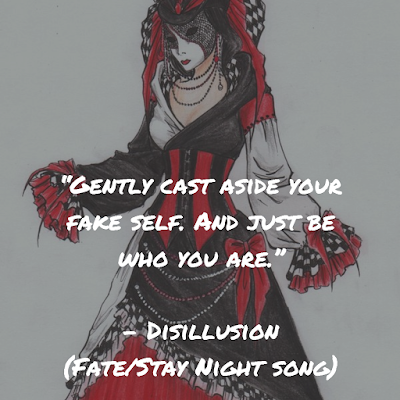 fate/stay night, anime, Sachi Tainaka, disillusion, type-moon, songs, quotes, lyrics analysis