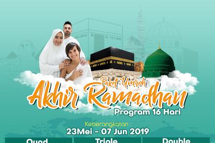 Paket Umroh Akhir Ramadhan 16 Hari