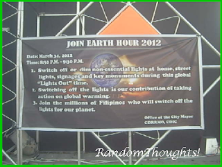 La Carlota earth hour 2012 campaign
