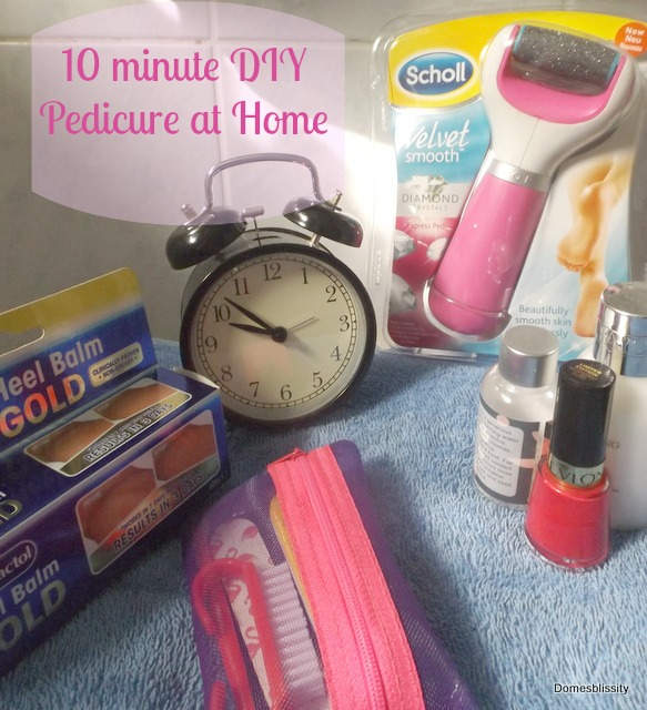 10 Minute Diy Pedicure At Home Domesblissity