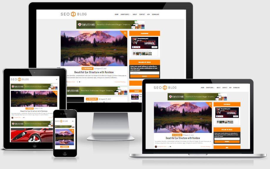 Seo Blog Template Blogger Responsive - Template chuẩn SEO mới nhất 2017