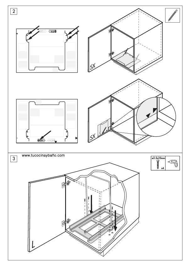 Cubo basura 32135322300 tu cocina y ba o - Cubo basura puerta ...