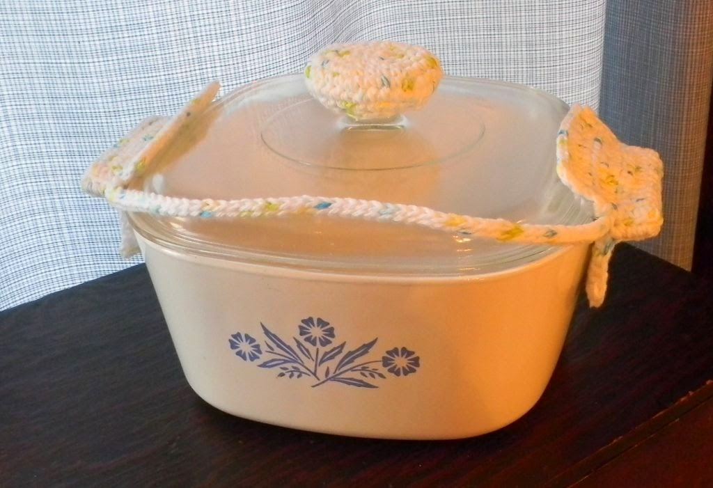 Corning Ware Glass Cookware Lid and Handle Potholders