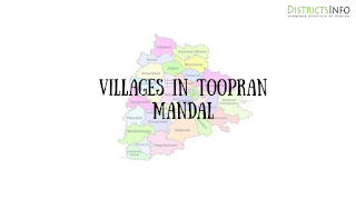 Toopran Mandal with villages